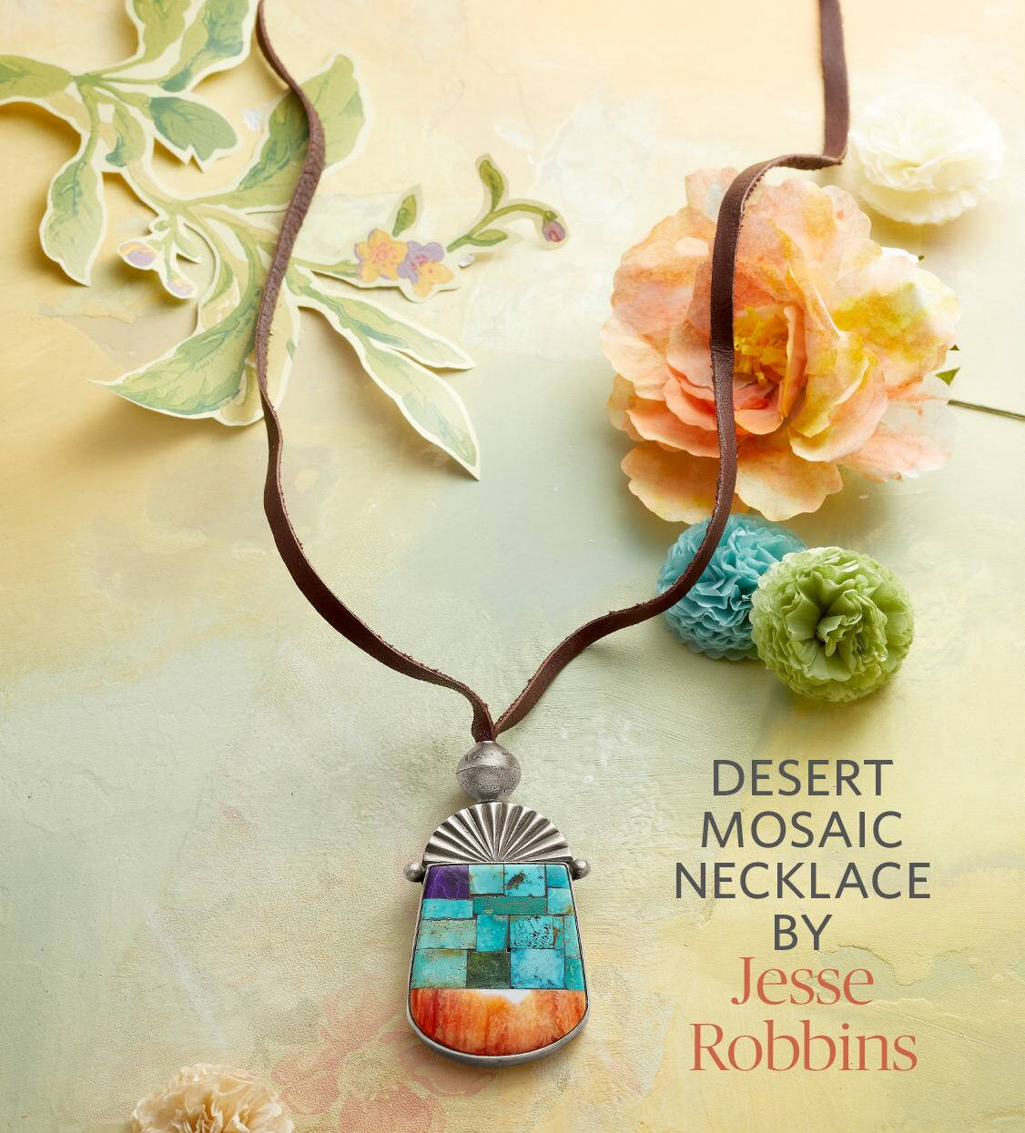 Desert Mosaic Necklace by Jesse Robbins