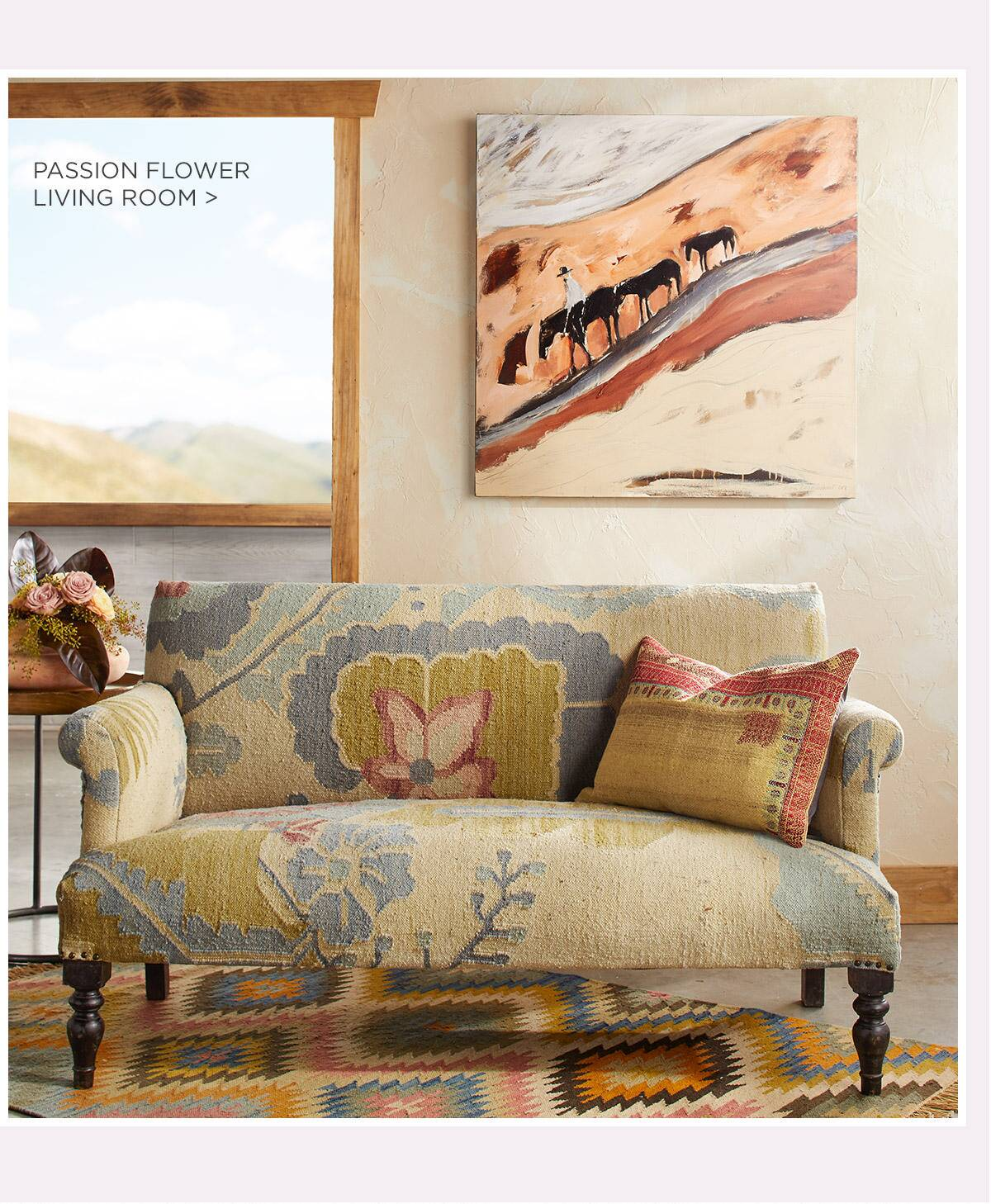 Passion Flower Living Room