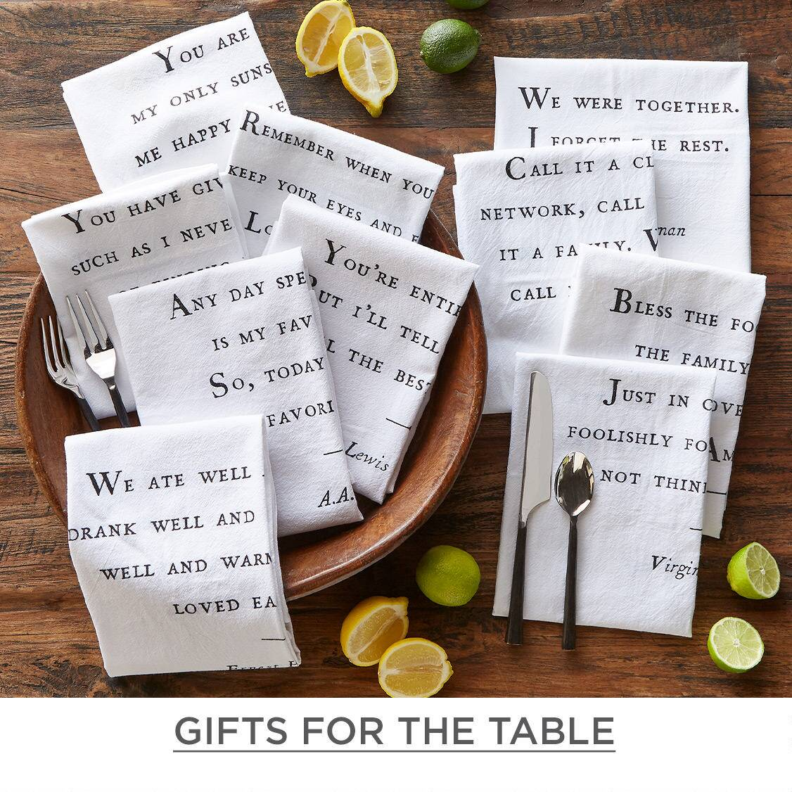 Shop Gifts for the table