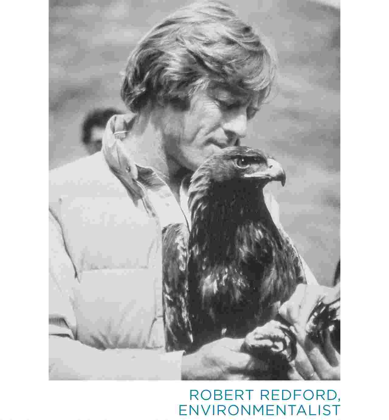 Redford with Hawk