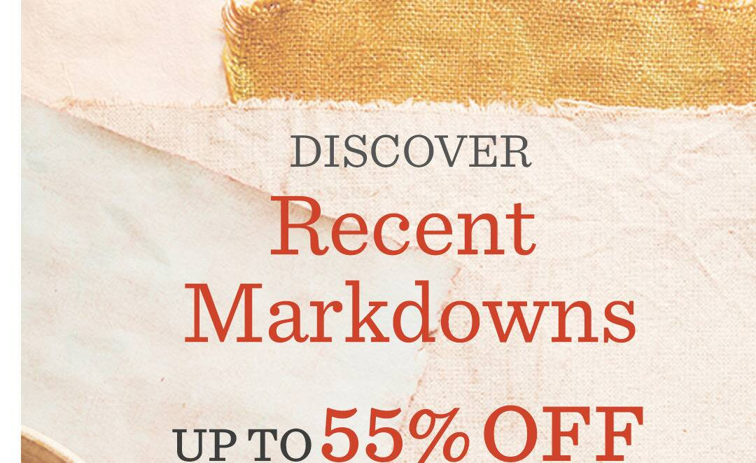 Recent Markdowns