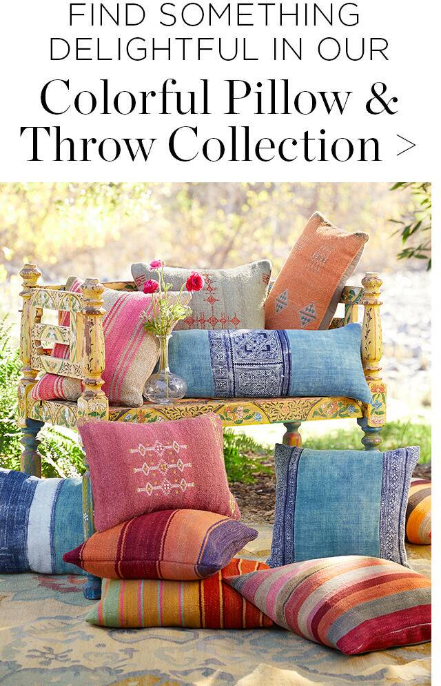 Colorful Pillows and Throws