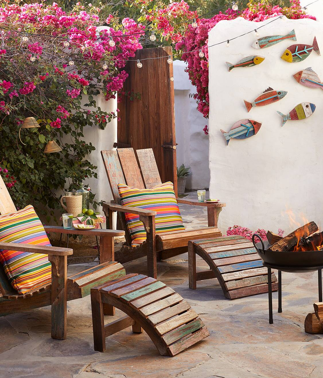 Reclaimed Outdoor Seating