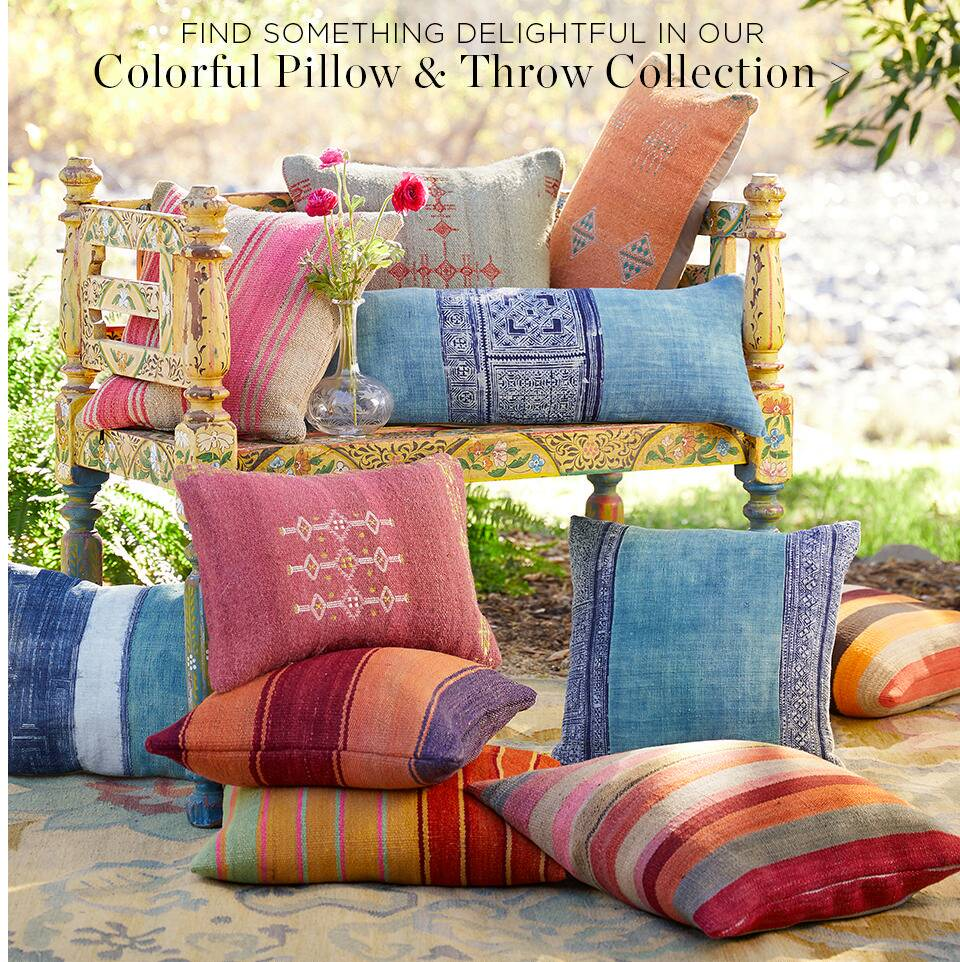 Colorful Pillows and Throws Collection
