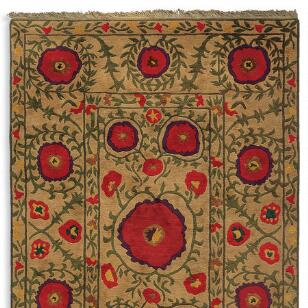 FIELD OF POPPIES TIBETAN HAND KNOTTED RUG