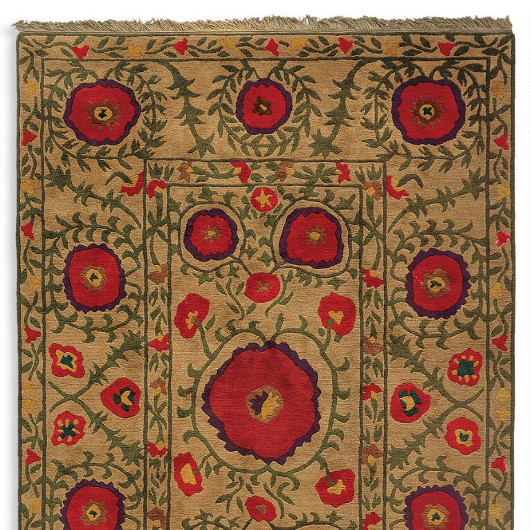 Field Of Poppies Knotted Rug Robert Redfords Sundance Catalog