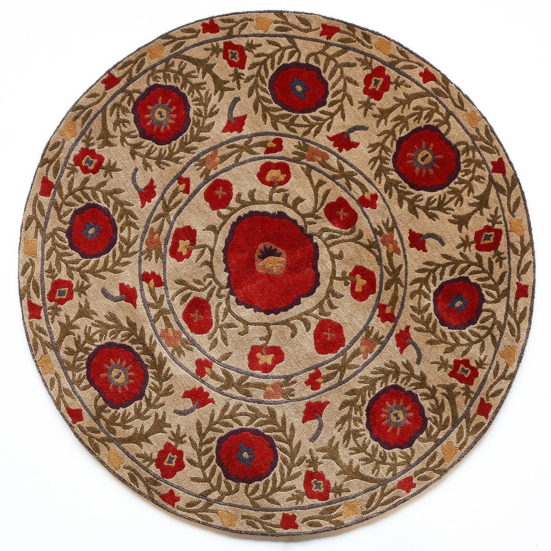 FIELD OF POPPIES TIBETAN HAND KNOTTED RUG: View 4