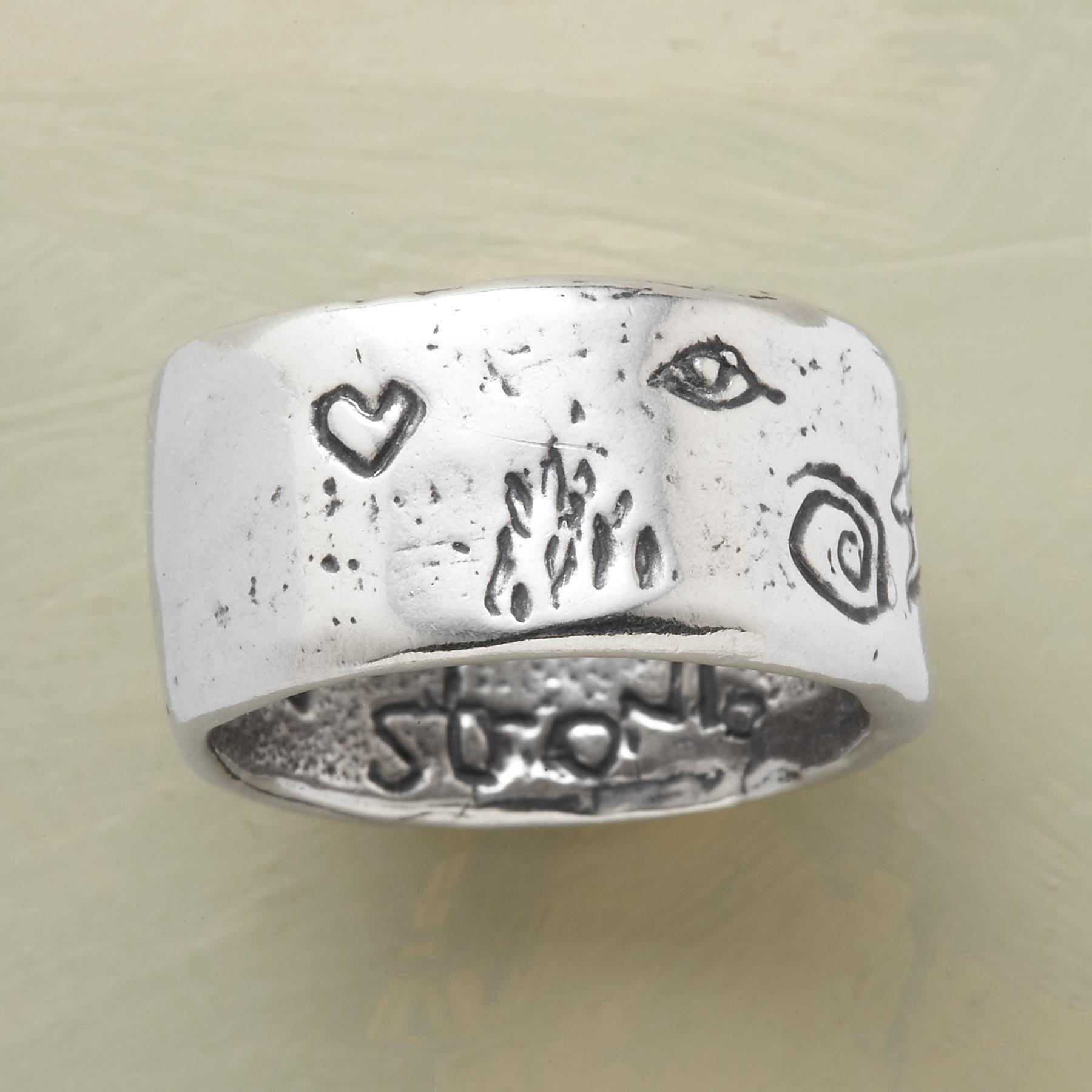 STERLING SILVER STRENGTH RING: View 2