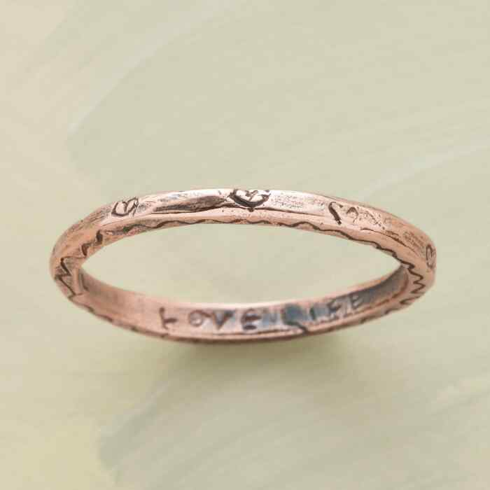 14KT ROSE GOLD VITALITY RING