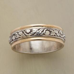 SILVER AND GOLD TWINING VINE BAND