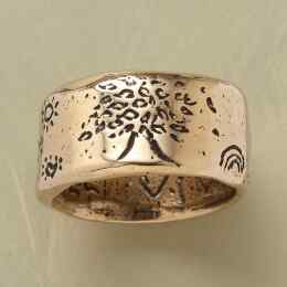 YELLOW GOLD STRENGTH RING