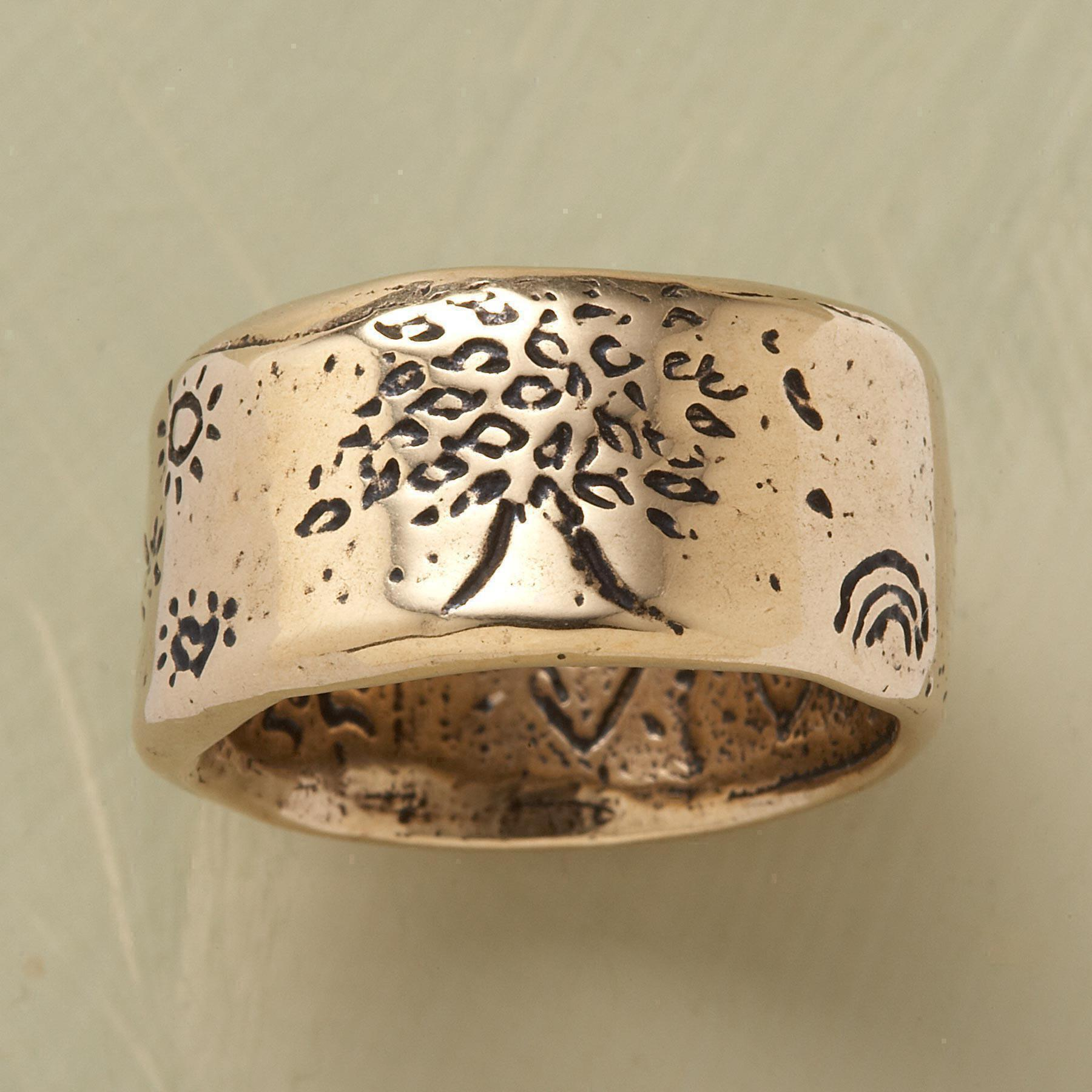 YELLOW GOLD STRENGTH RING: View 1