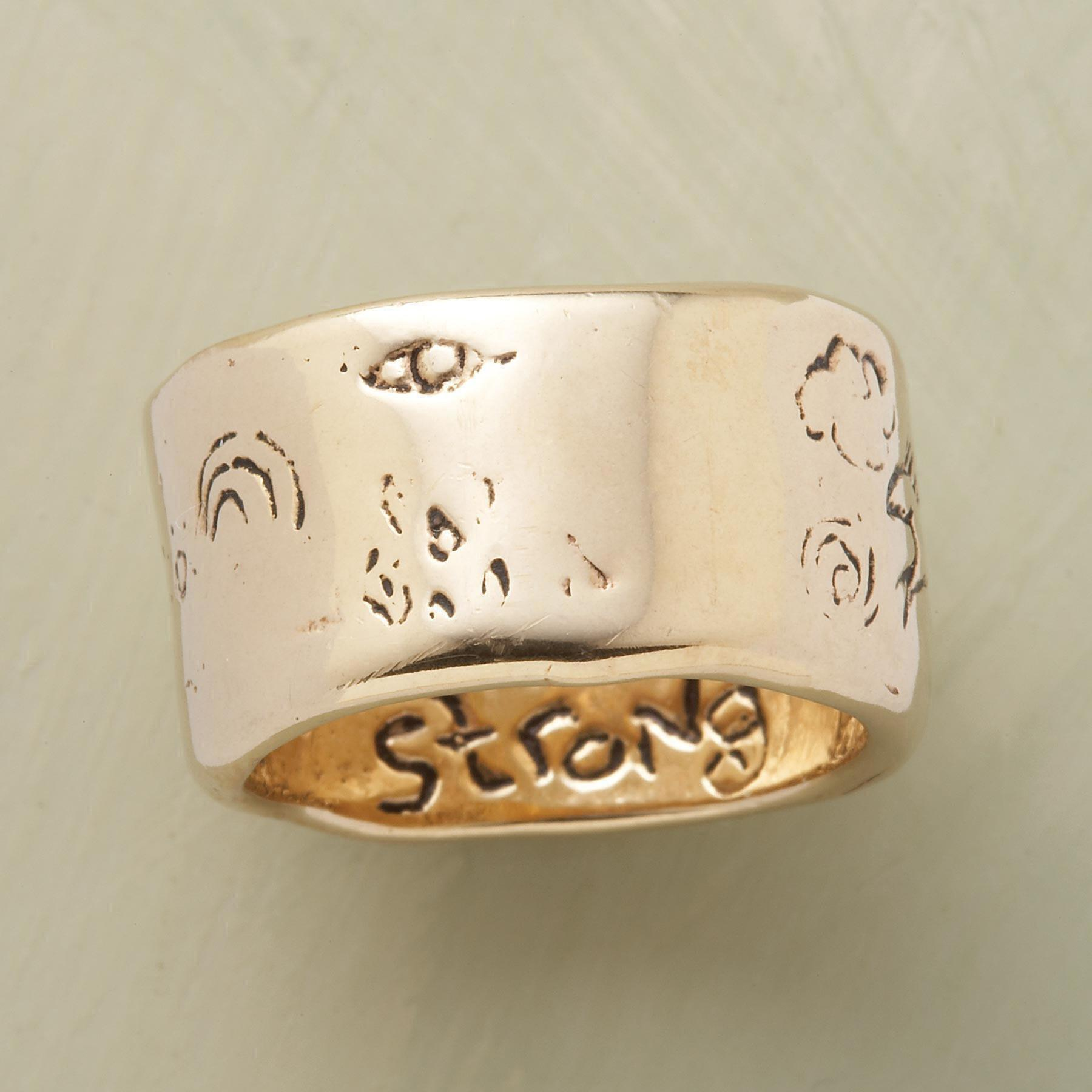 YELLOW GOLD STRENGTH RING: View 2