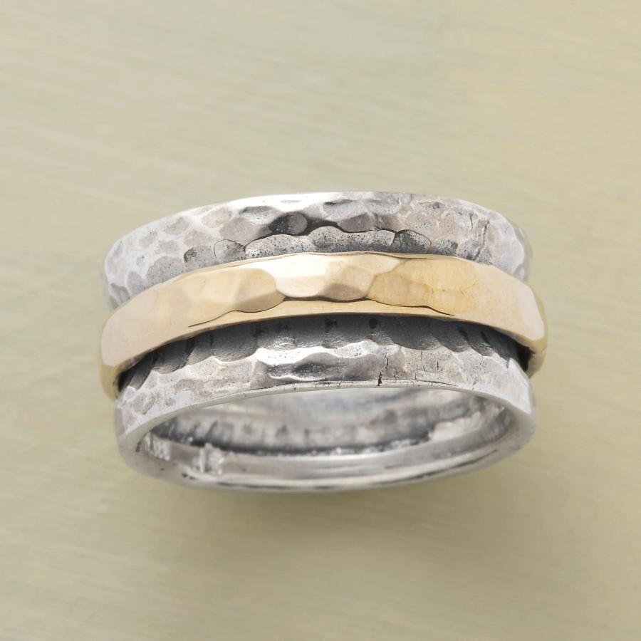 SILVER AND GOLD SLIDE RING