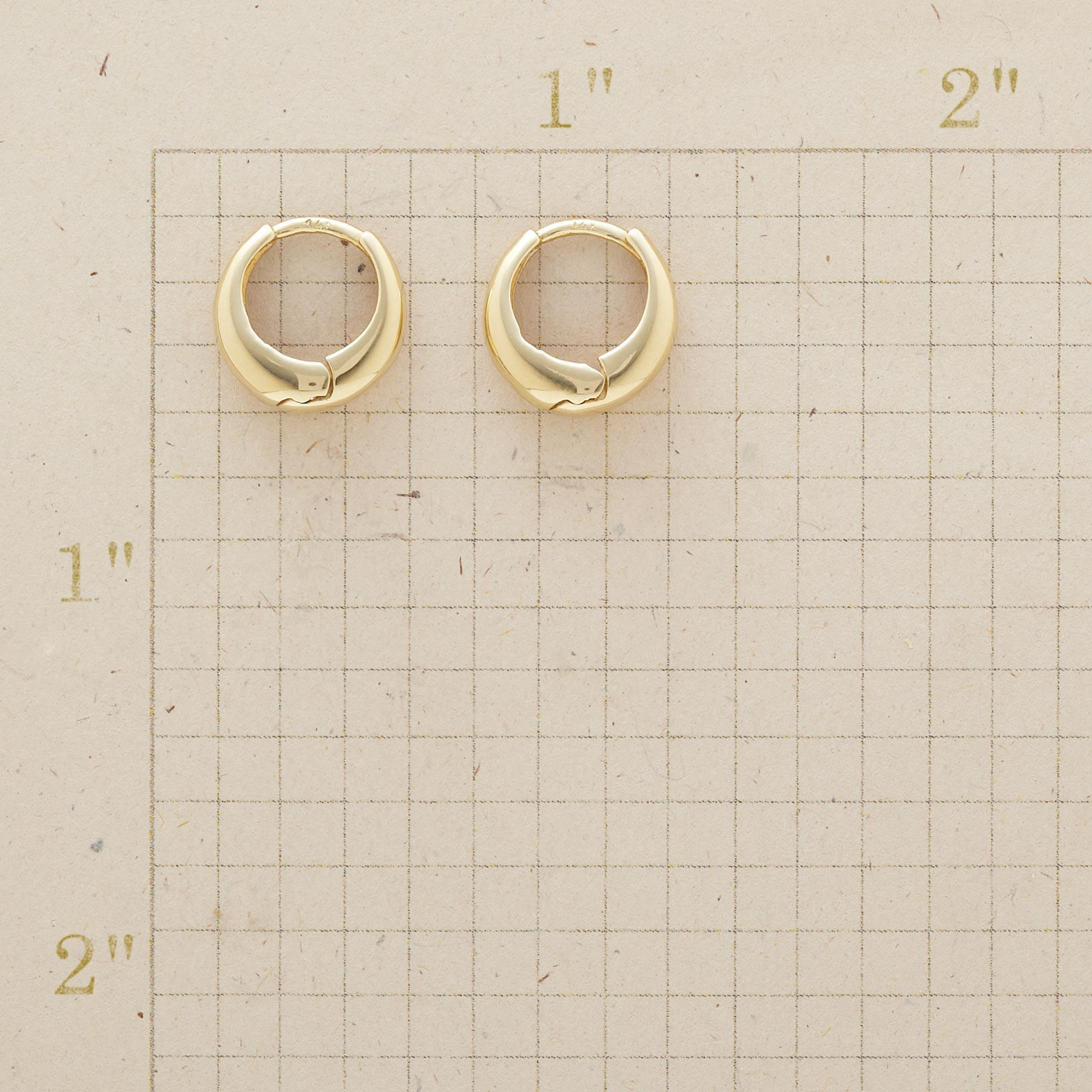 YELLOW GOLD AXIS HOOPS: View 2