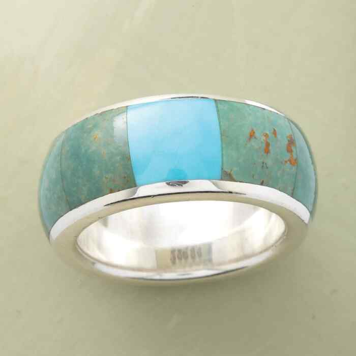 TURQUOISE WINDOWPANE RING