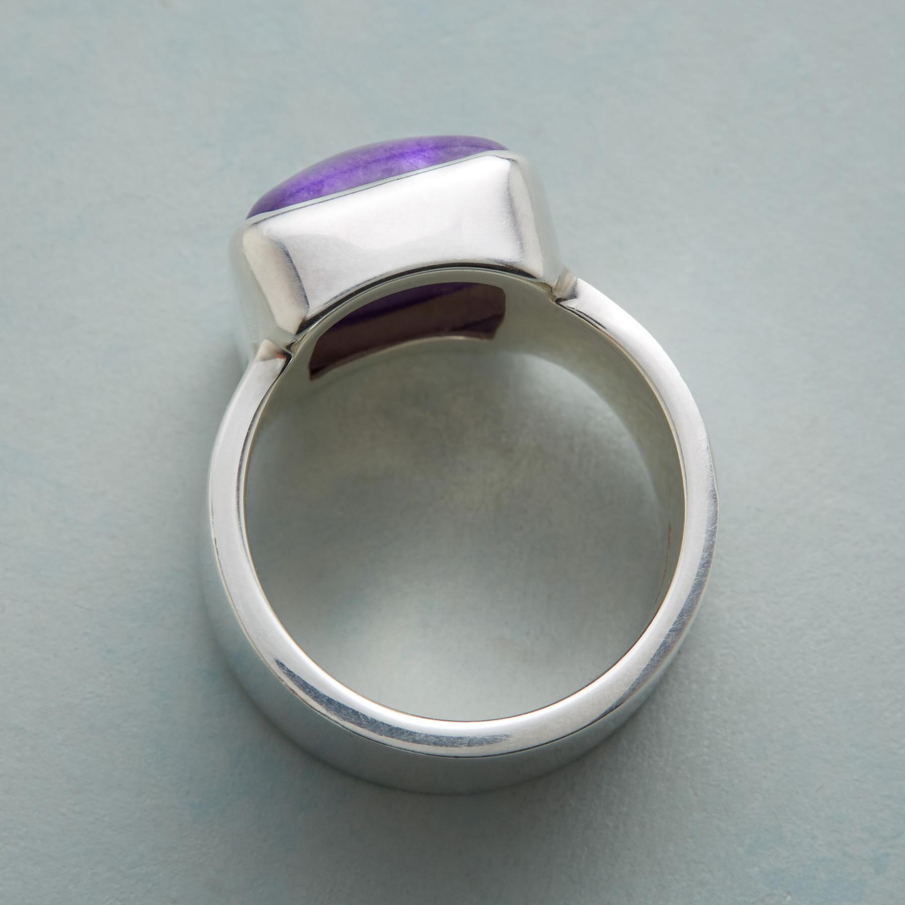 LAVENDER JADE RING: View 3