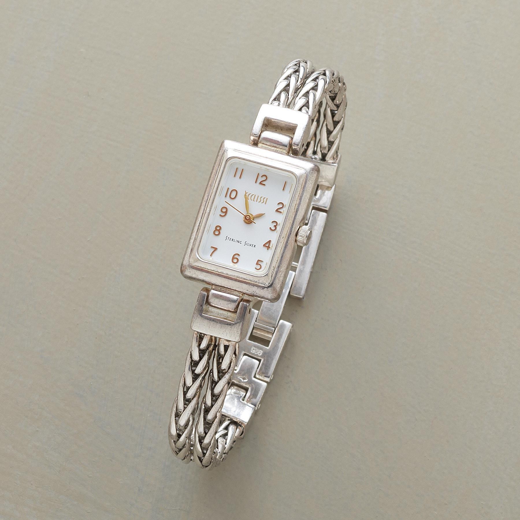 STERLING CHAIN BRACELET WATCH: View 1