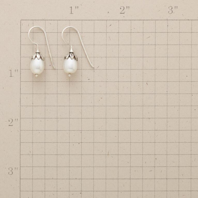 Lotus Pearl Earrings View 2