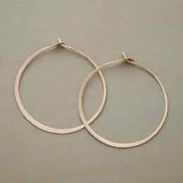 GOLD HAND FORGED GYPSY HOOPS