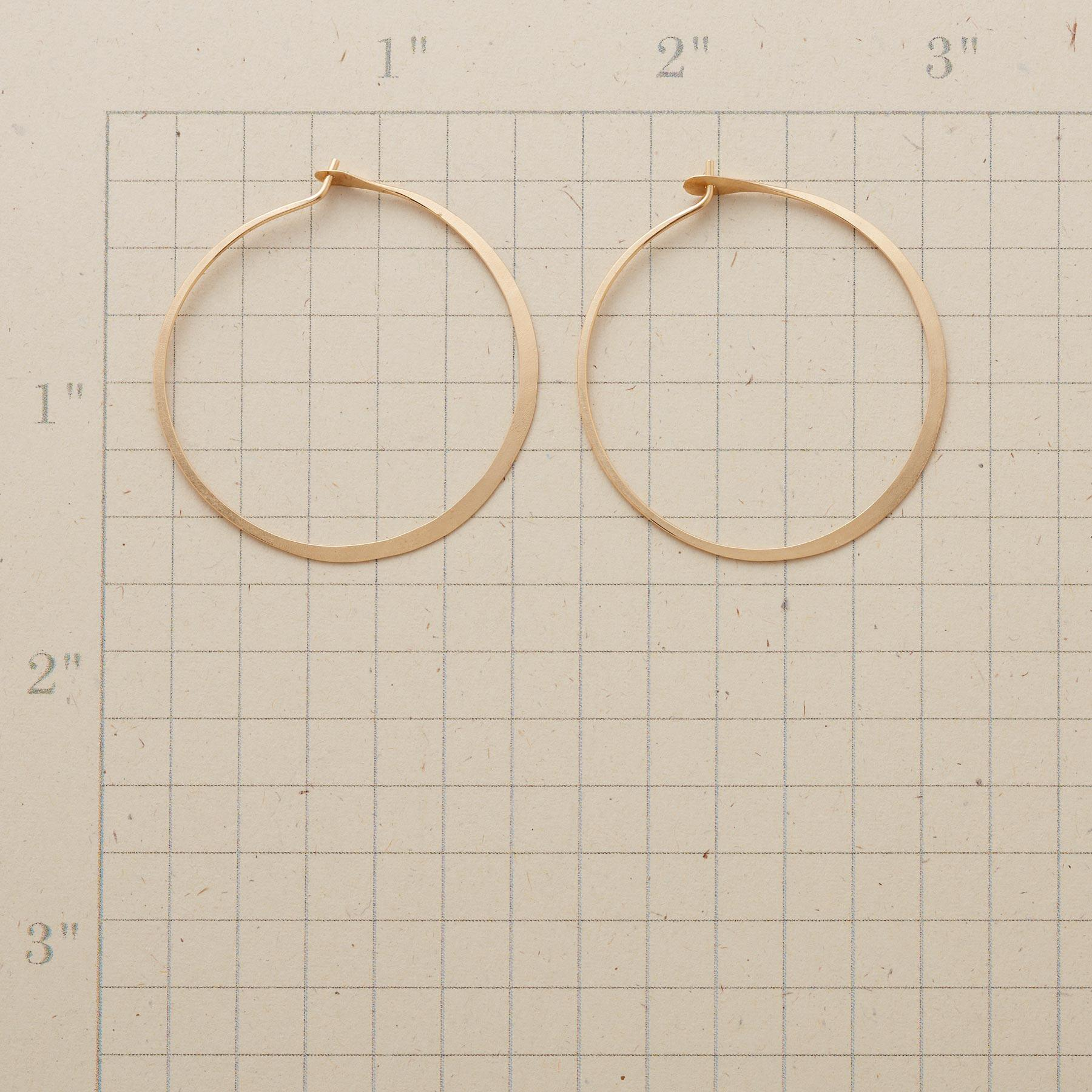 GOLD HAND FORGED GYPSY HOOPS: View 2