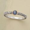 SAPPHIRE SCROLL RING: View 1
