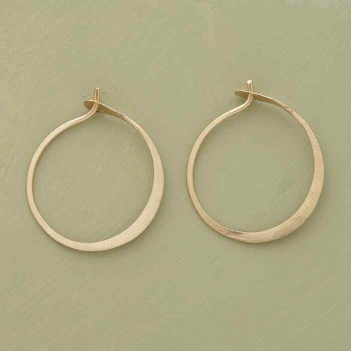 SMALL HAND-FORGED GOLD HOOPS