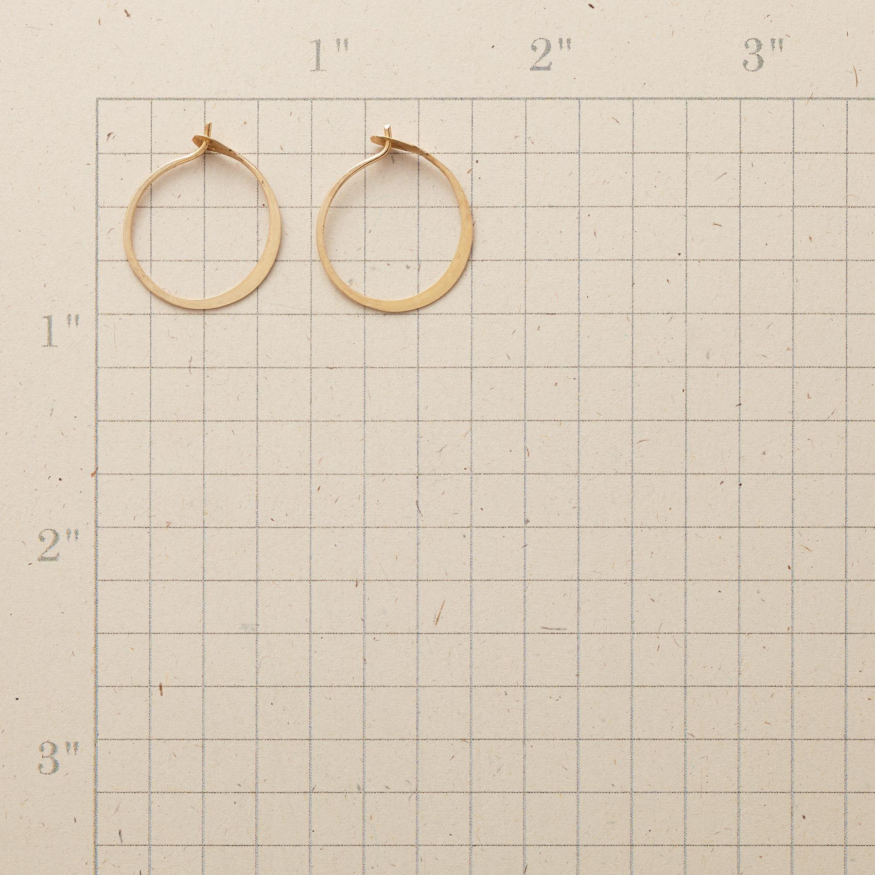 SMALL HAND-FORGED GOLD HOOPS: View 2