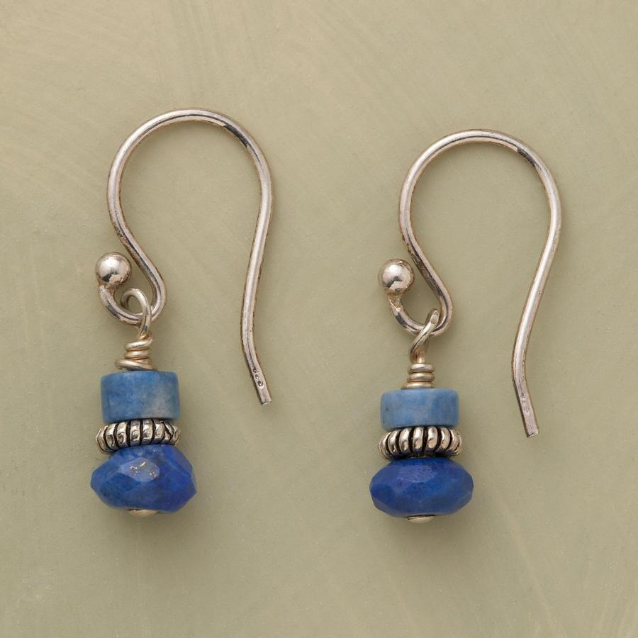 DOUBLE DROP LAPIS EARRINGS