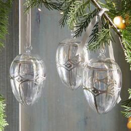 BRILLIANT GLASS EGG ORNAMENT