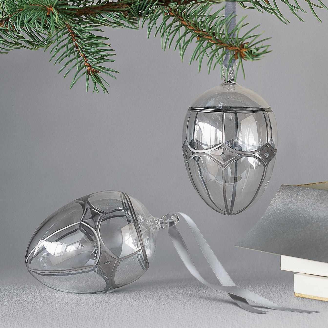 BRILLIANT GLASS EGG ORNAMENT: View 2