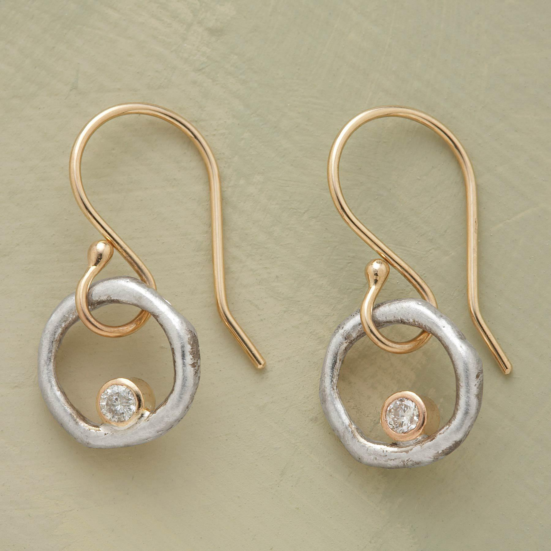 DIAMONDS IN ORBIT EARRINGS: View 1