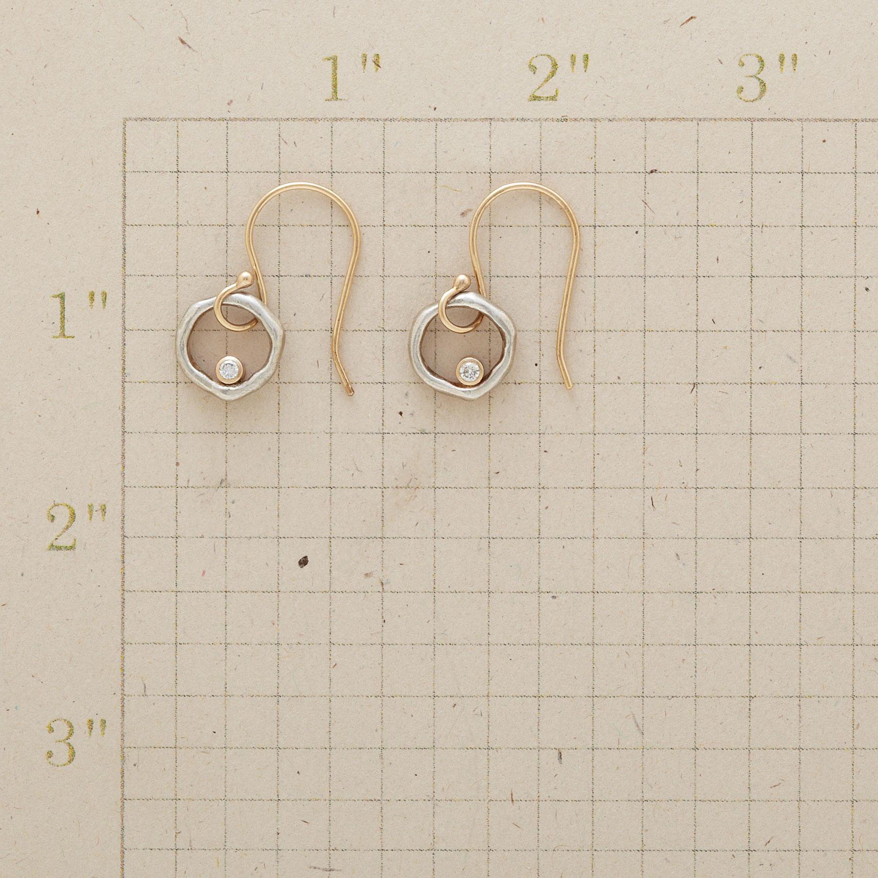 DIAMONDS IN ORBIT EARRINGS: View 2