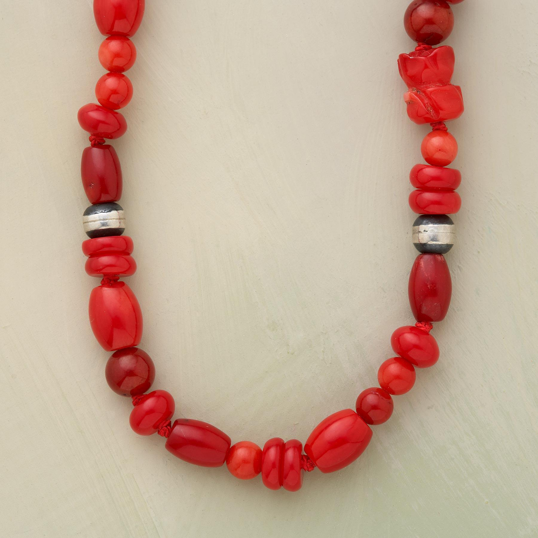 ROSY CORAL NECKLACE: View 1