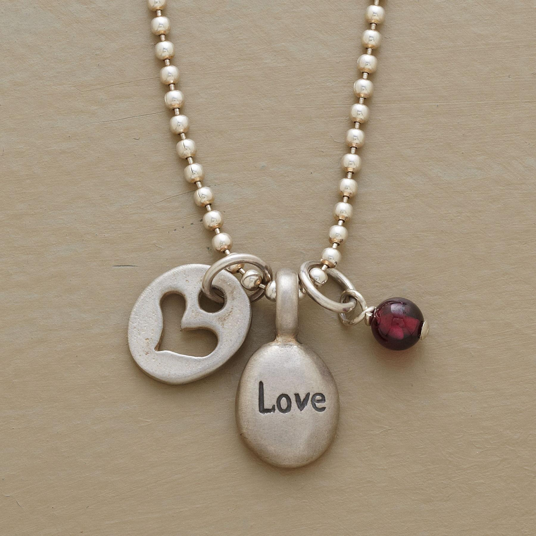 LOVE LETTERS NECKLACE: View 1