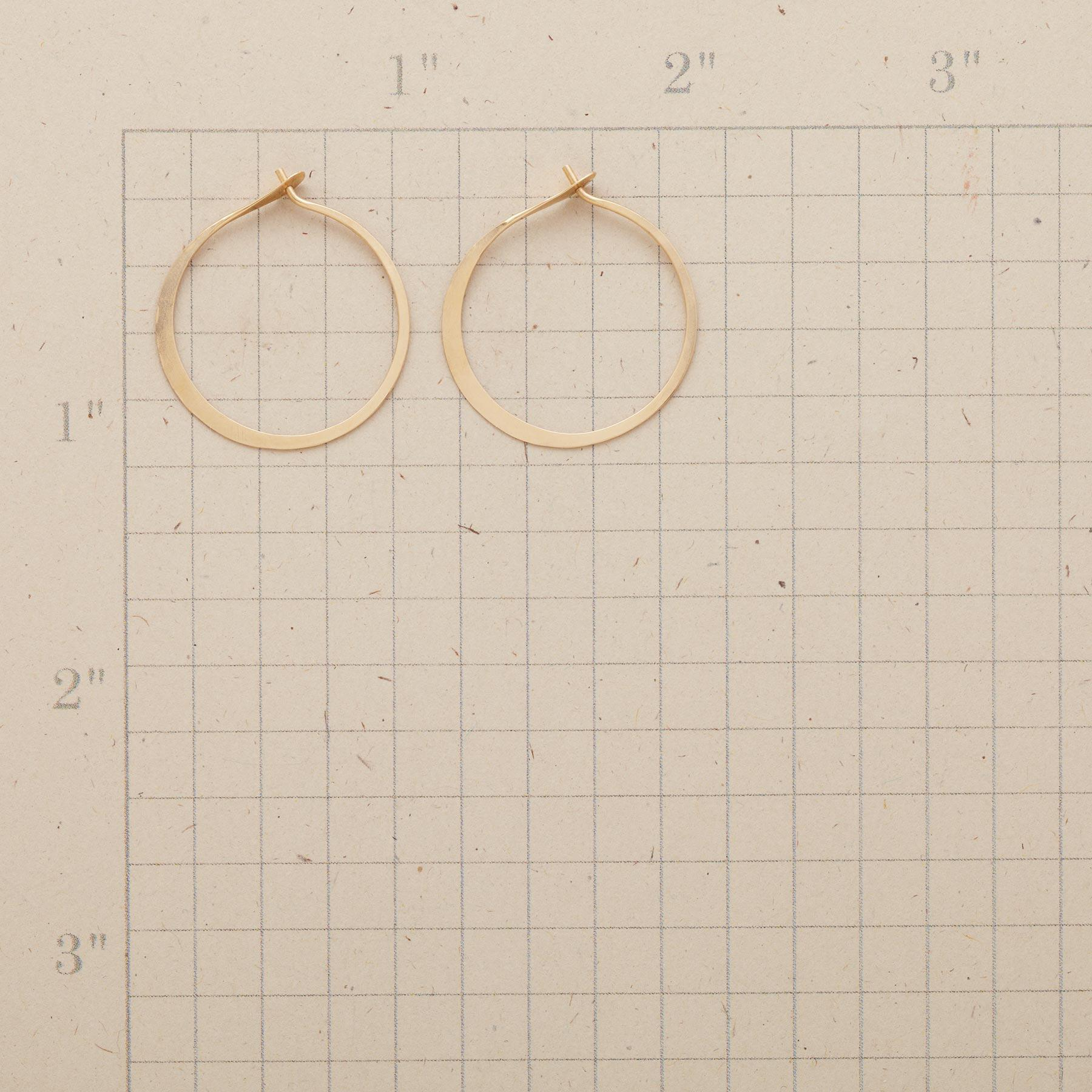 HAND FORGED GOLD HOOPS: View 2