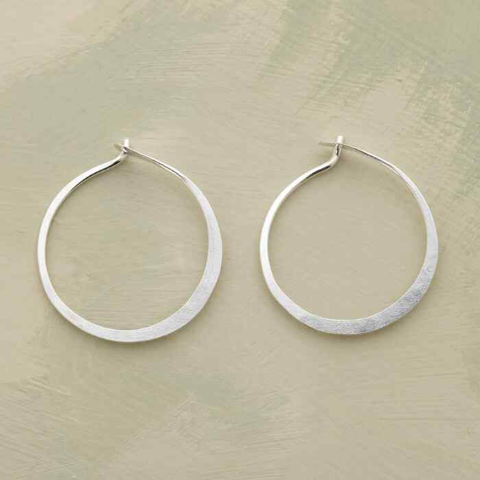 SMALL HAND-FORGED STERLING HOOPS
