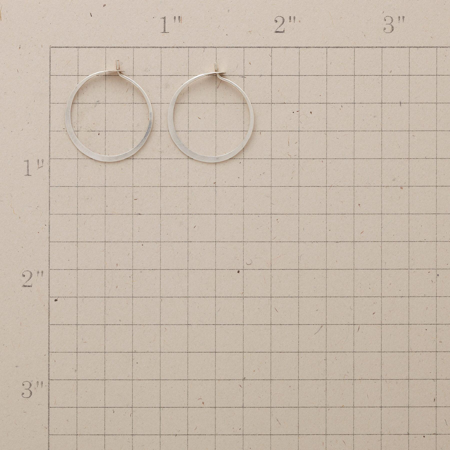 SMALL HAND-FORGED STERLING HOOPS: View 2