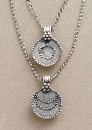 SILVER LUNA/SOL NECKLACE