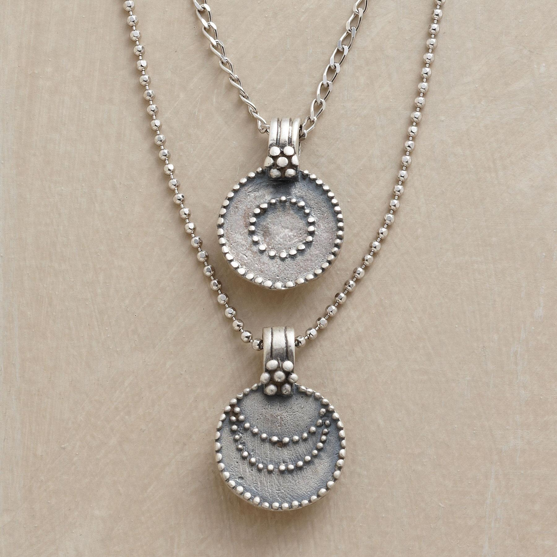 SILVER LUNA/SOL NECKLACE: View 1
