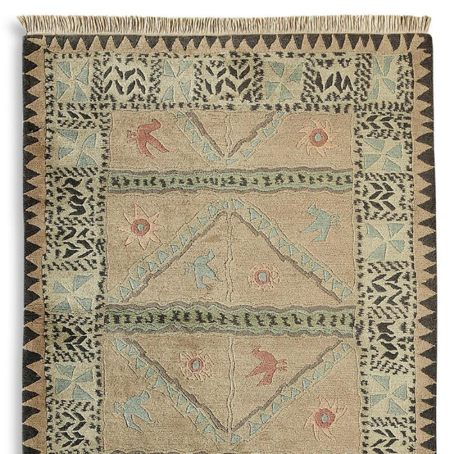 Hand-Knotted Tibetan Wool Rug