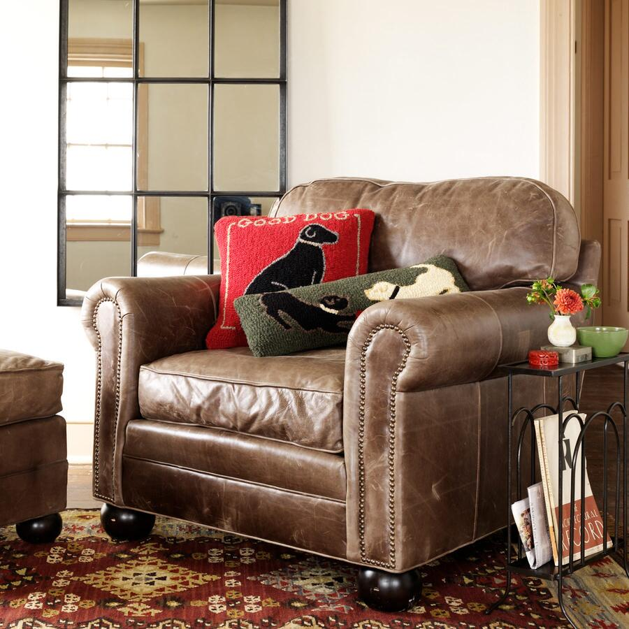 OGDEN LEATHER CLUB CHAIR