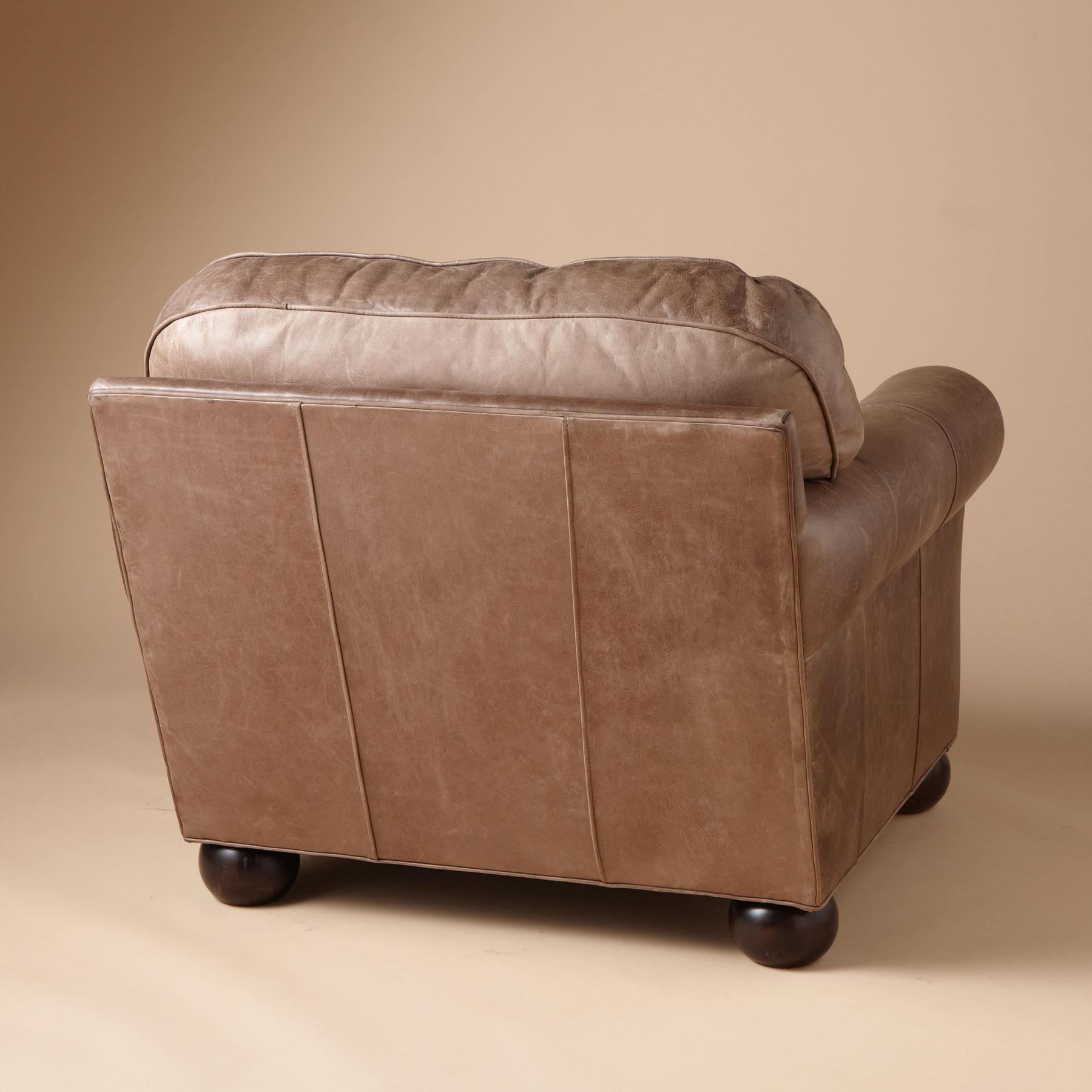 OGDEN LEATHER CLUB CHAIR: View 2