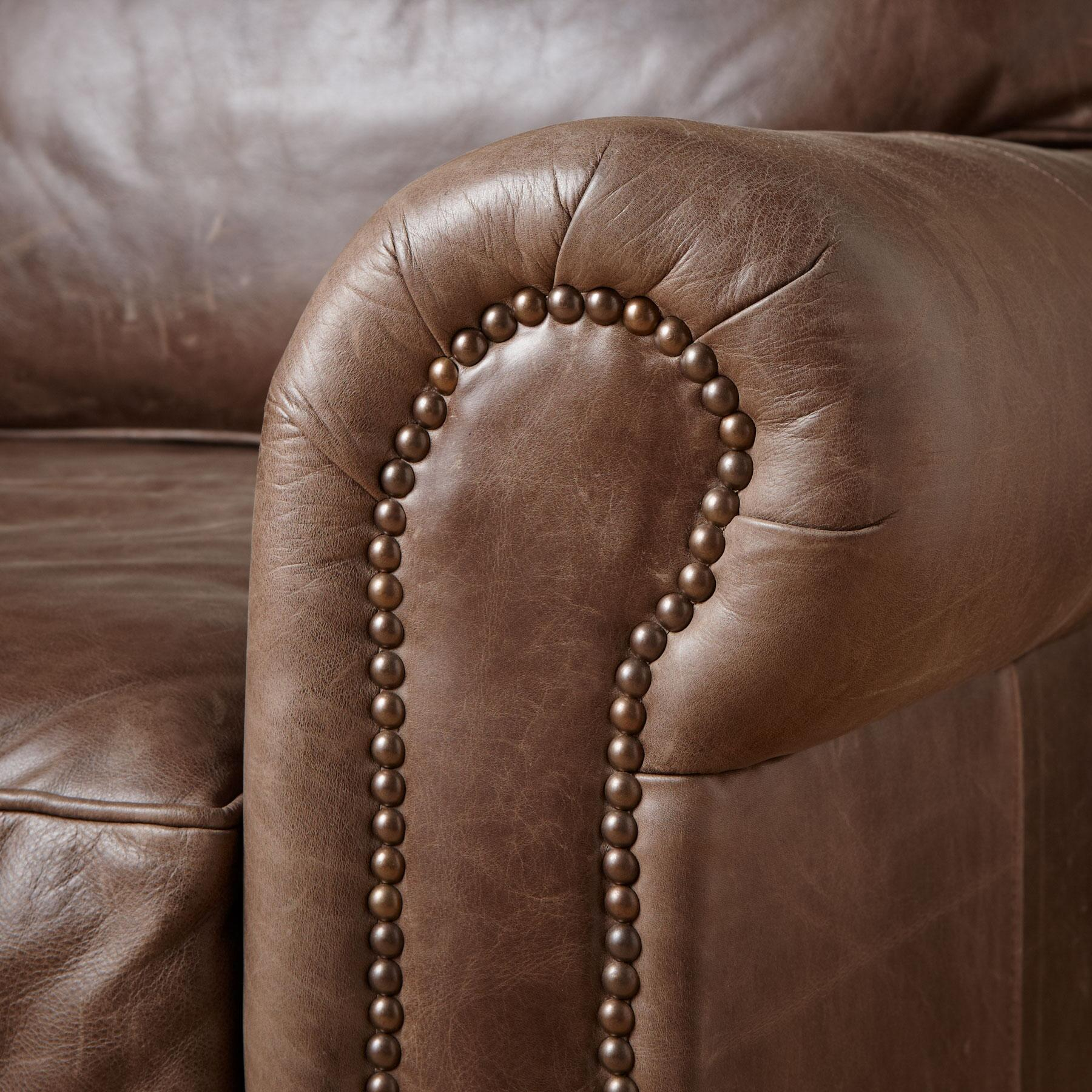 OGDEN LEATHER CLUB CHAIR: View 3