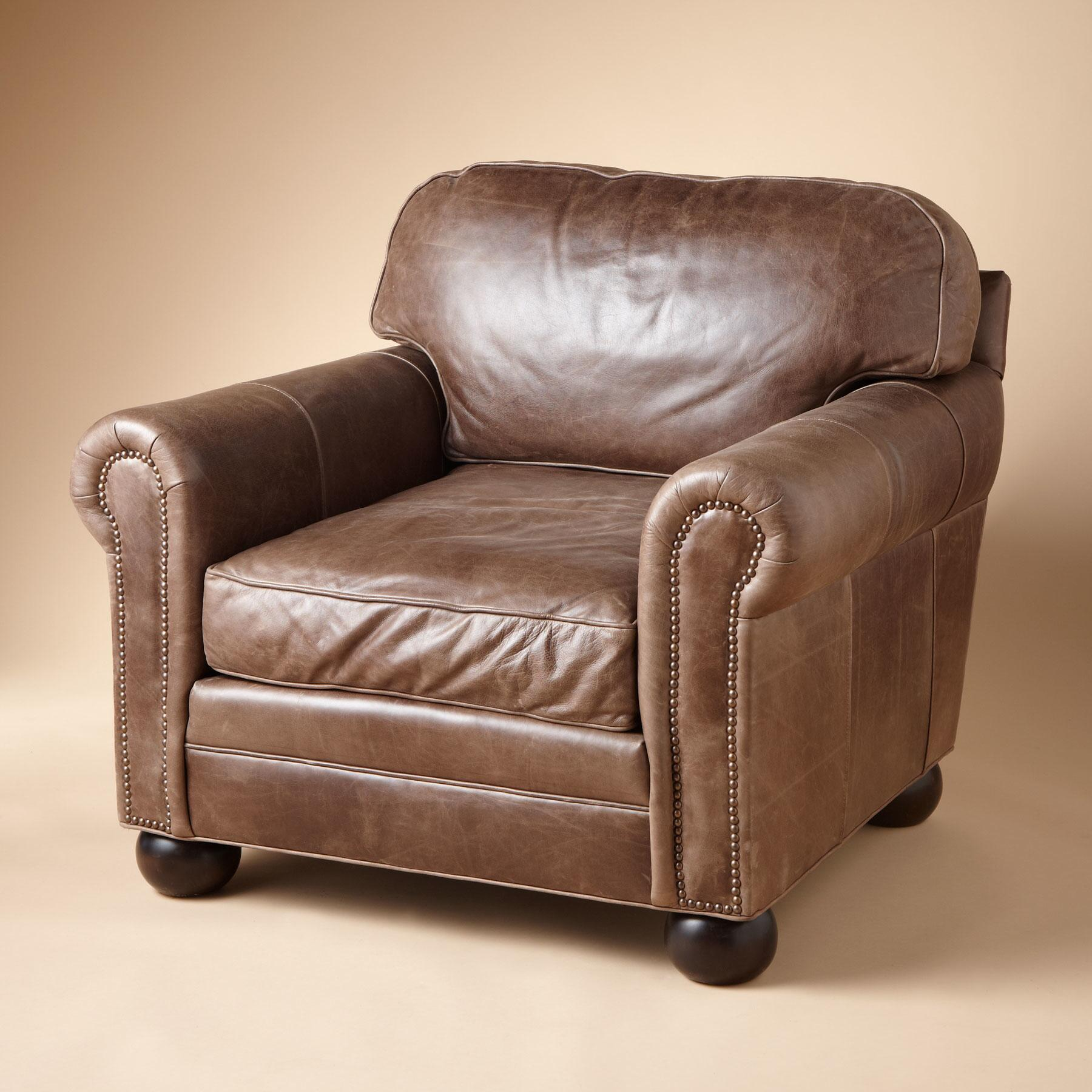OGDEN LEATHER CLUB CHAIR: View 4