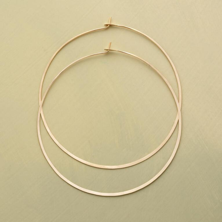 SUMMER OF LOVE GOLD HOOPS