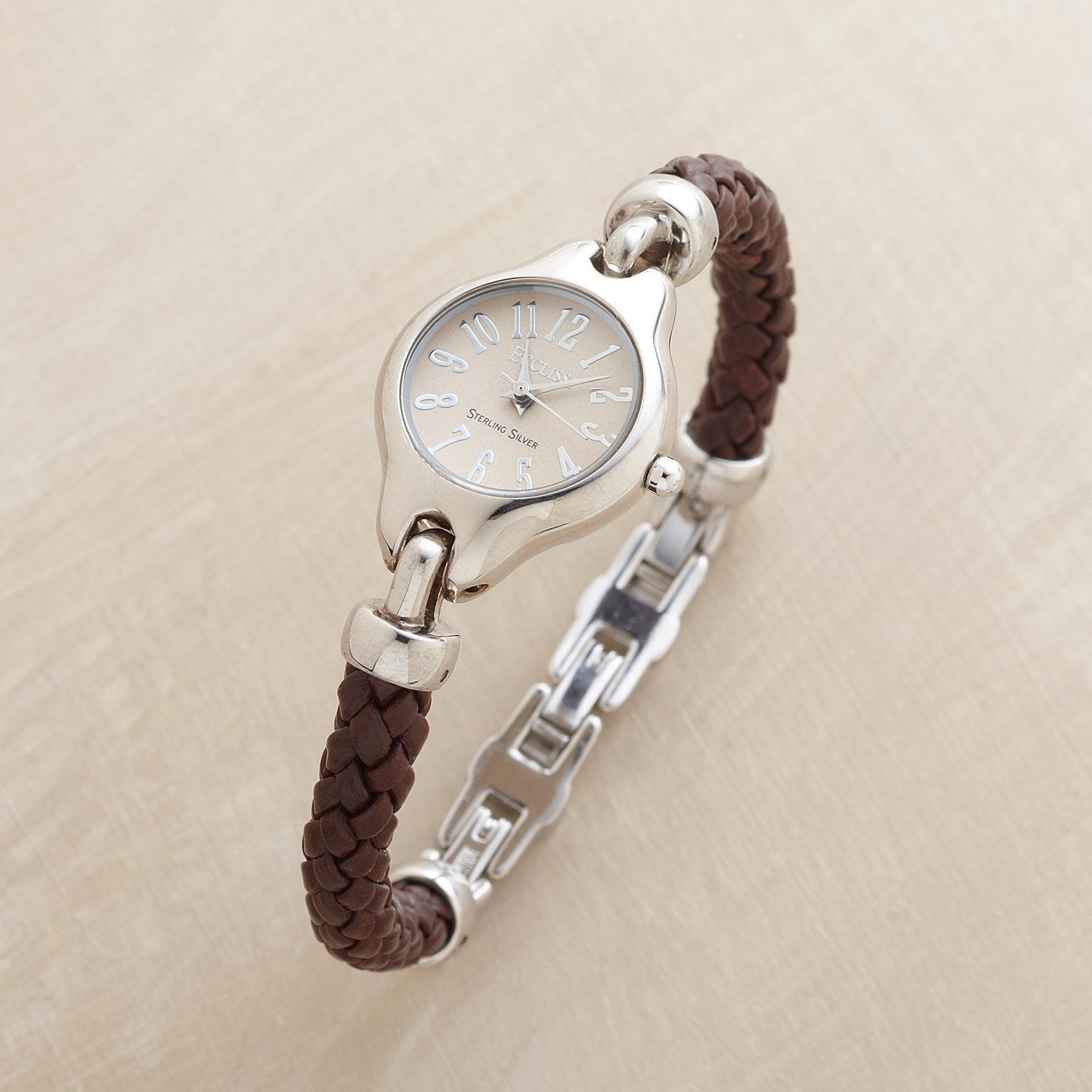 LEATHER BRACELET WATCH: View 1
