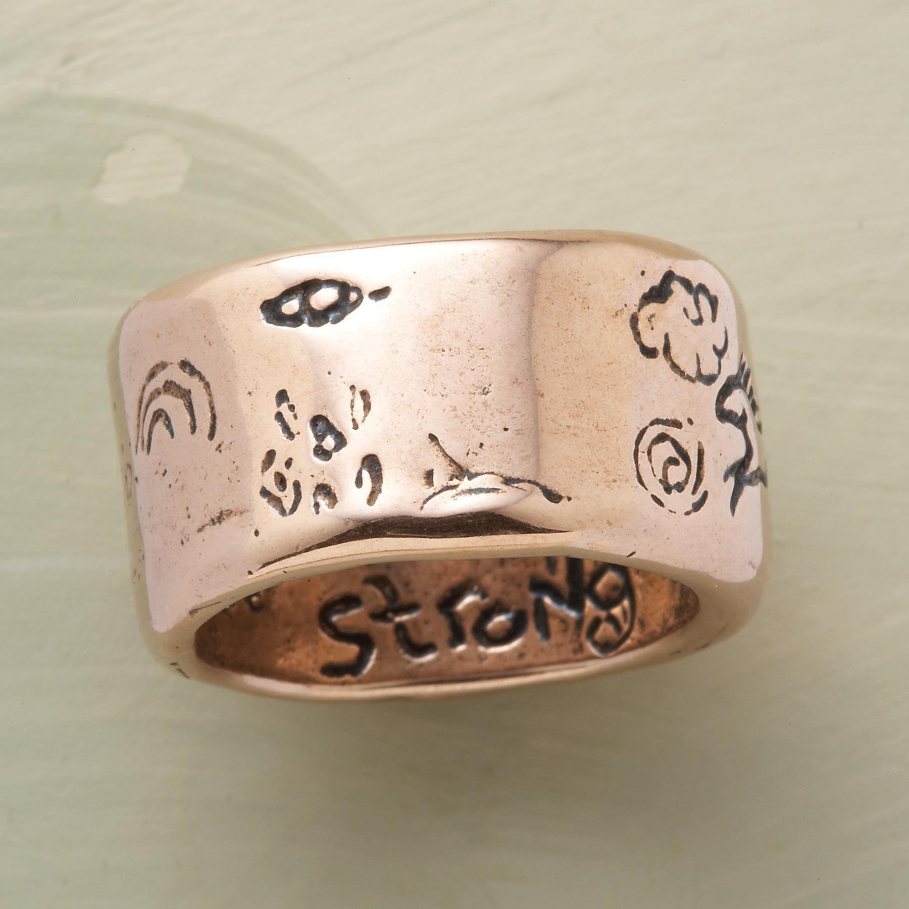 ROSE GOLD STRENGTH RING: View 2