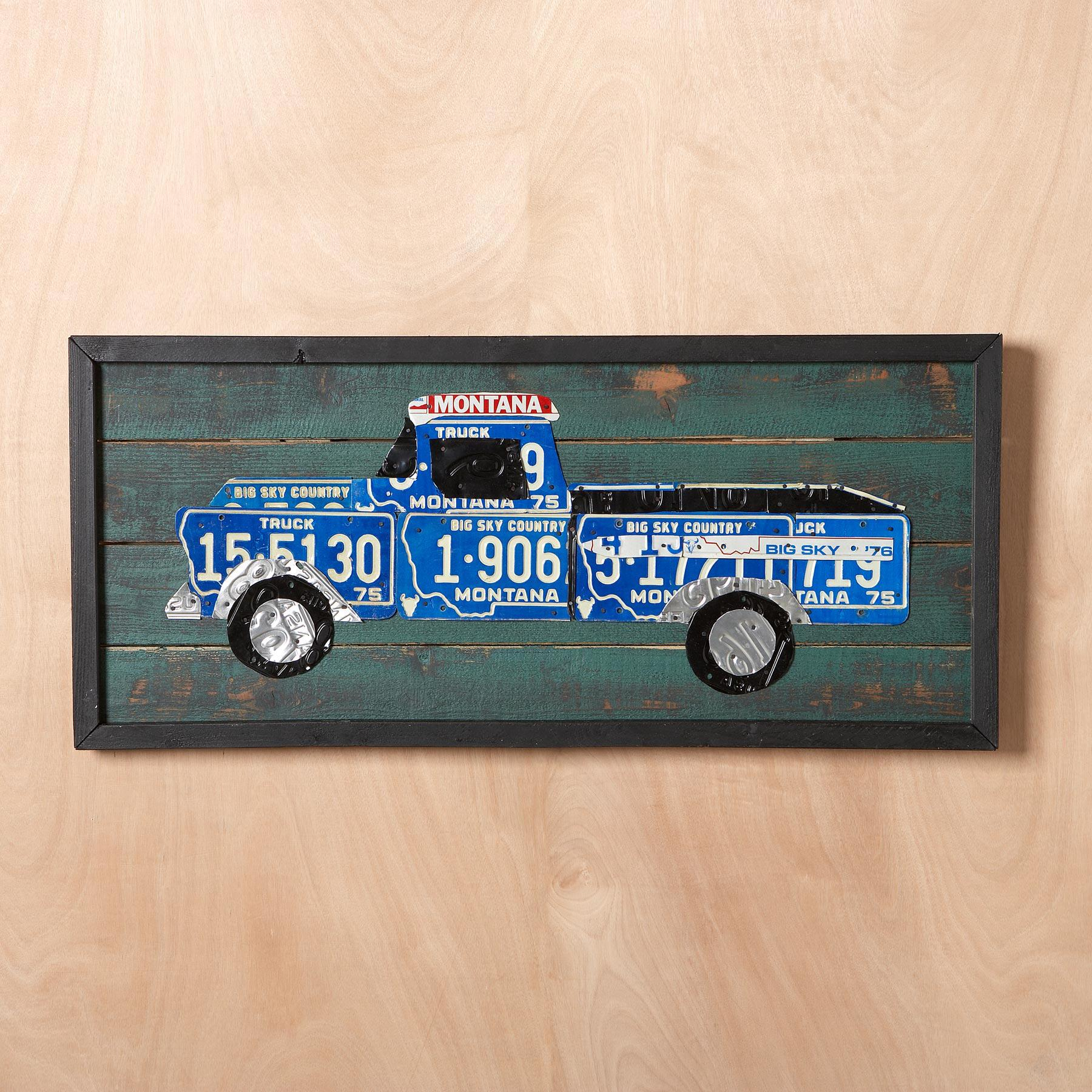 LICENSE PLATE TRUCK WALL ART: View 4