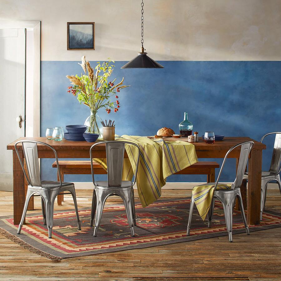 Furniture Catalog Online: Long Rustic Pine Dining Table